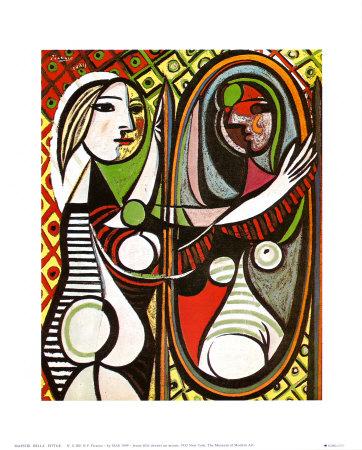 Meisje voor de spiegel, ca.1932 Posters van Pablo Picasso