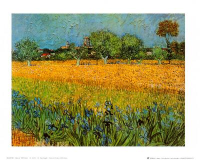 Vy av Arles med irisar Poster av Vincent van Gogh