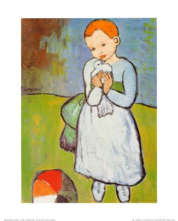 Child with a Dove, c.1901 Kunst af Pablo Picasso