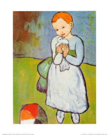 Child with a Dove, c.1901 Art Print