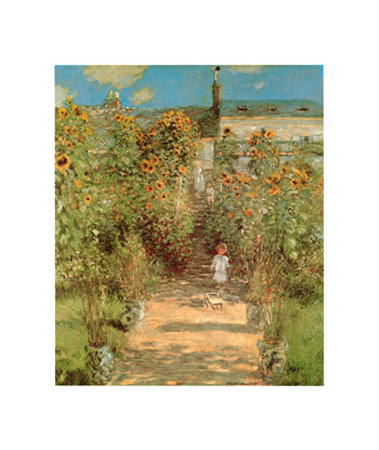 The Garden at Vetheuil Art Print