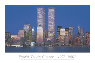 World trade center 1973 2001 kunsttryk