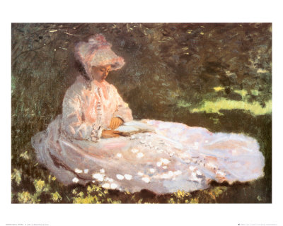 Woman Reading Print by Claude Monet