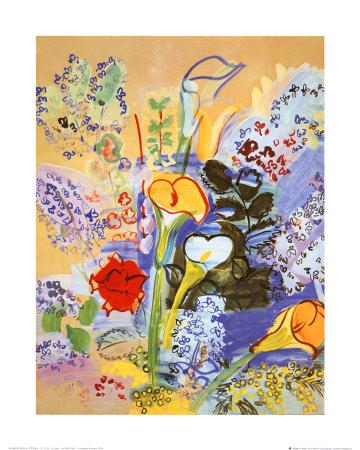 Bouquet d'Arums Konst av Raoul Dufy