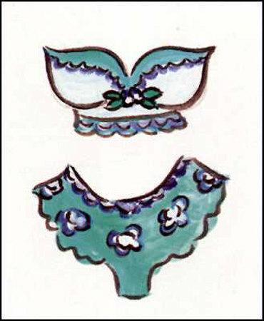 Aqua Two Piece Poster by Holly Wojahn