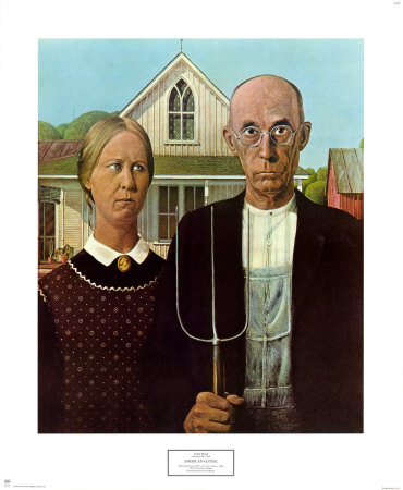 American Gothic, 1930 Prints by Grant Wood