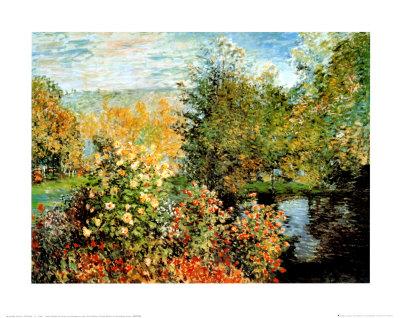 Stiller Winkel im Garten von Montgeron Prints by Claude Monet