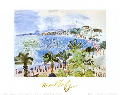 La Promenade des Anglais, c.1928 Art by Raoul Dufy