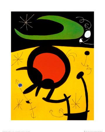 Vuelo de Pajaros Print by Joan Miró