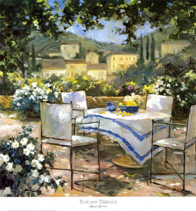 Tuscany Terrace Art Print