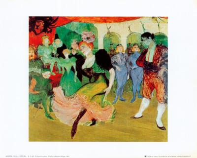 Dance At Moulin Rouge Prints by Henri de Toulouse-Lautrec