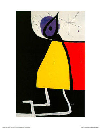 Woman in the Night Posters by Joan Miró