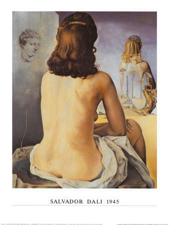 Ma Femme Nue Regardant son Porpe Corps Posters by Salvador Dalí