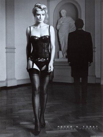 Danielle im schwarzen Dessus Posters by Peter Furst