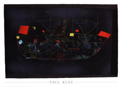 Abenteuer-Schiff, 1927 Posters by Paul Klee