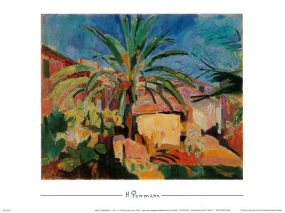 Palme und Hauser in Ajaccio, 1912 Kunsttryk