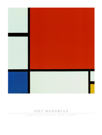Composition with Red Blue Yellow Prints by Piet Mondrian