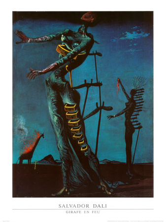 The Burning Giraffe, c. 1937 Posters by Salvador Dalí