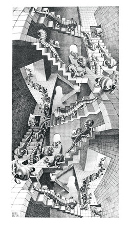 House of Stairs Prints by M. C. Escher