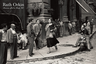 American Girl in Italy, 1951 Art by Ruth Orkin