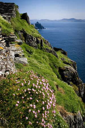 The Slopes of Skellig Michael Off the Kerry Coast, Ireland Photographic Print by Chris Hill