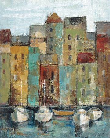 Old Town Port I Art by Silvia Vassileva