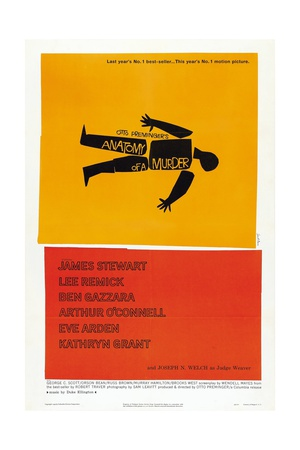 Anatomy of a Murder, 1959, Directed by Otto Preminger Giclée-tryk