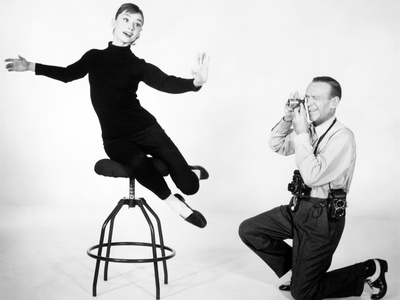"""Audrey Hepburn, Fred Astaire. """"Funny Face"""" 1957, Directed by Stanley Donen Photographic Print"""