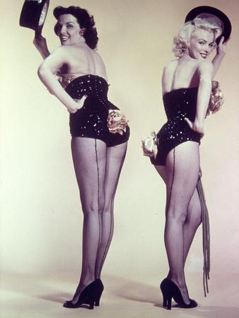 "Marilyn Monroe, Jane Russell ""Gentlemen Prefer Blondes"" 1953, Directed by Howard Hawks Photographic Print"