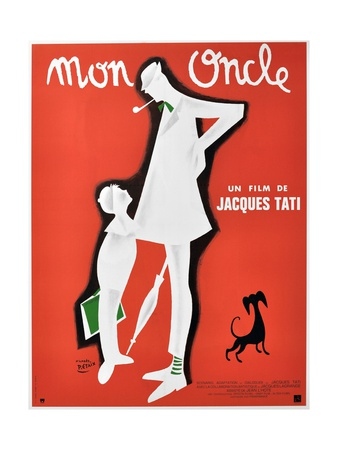 """My Uncle, 1958, """"Mon Oncle"""" Directed by Jacques Tati ジクレープリント"""