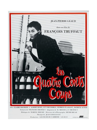 """The Four Hundred Blows, 1959, """"Les Quatre Cents Coups"""" Directed by Francois Truffaut Giclee Print"""