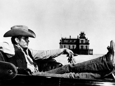 """James Dean. """"Giant"""" 1956, Directed by George Stevens Photographic Print"""