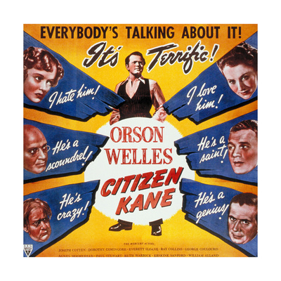 """American, 1941, """"Citizen Kane"""" Directed by Orson Welles Giclee Print"""