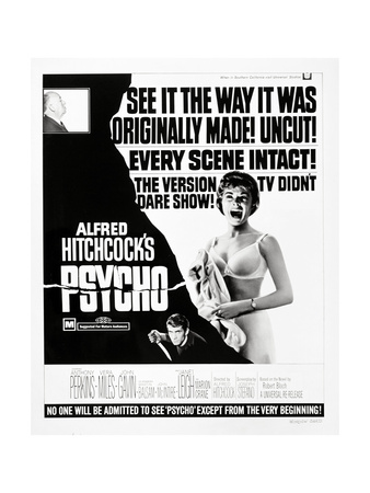 "Wimpy, 1960 ""Psycho"" Directed by Alfred Hitchcock Giclee Print"