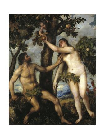 Adam And Eve, Ca. 1550, Italian School Giclee Print