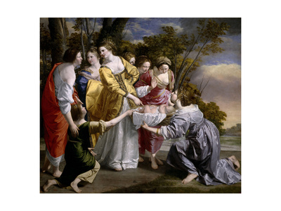 Moses Saved From the Waters', 1633, Italian School Giclée-tryk af Orazio Gentileschi