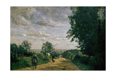 The Road To Sevres, 1858-1859 Giclee Print by Jean-Baptiste-Camille Corot