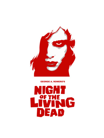 """""""Night of the Living Dead"""" Directed by George A. Romero Giclee Print"""