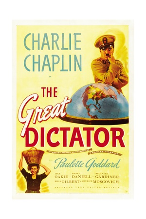 """The Dictator, 1940 """"The Great Dictator"""" Directed by Charles Chaplin Giclee Print"""