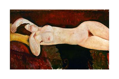 Reclining Nude, Ca. 1919 Lámina giclée por Amedeo Modigliani