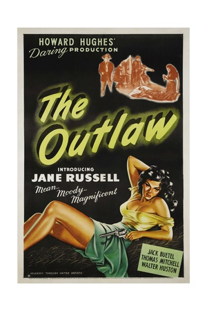 The Outlaw, 1943, Directed by Howard Hughes Giclée-tryk