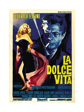 """The Sweet Life, 1960 """"La Dolce Vita"""" Directed by Federico Fellini ジクレープリント"""