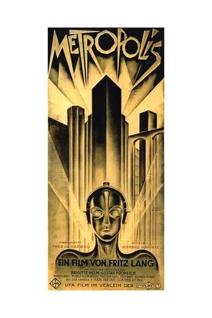 Metropolis, 1927, Directed by Fritz Lang Giclée-tryk