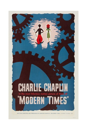 """The Masses, 1936, """"Modern Times"""" Directed by Charles Chaplin Giclee Print"""