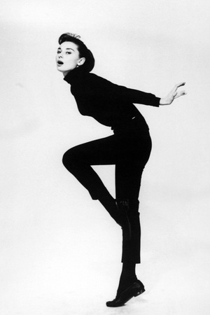 """Audrey Hepburn. """"Funny Face"""" 1957, Directed by Stanley Donen Photographic Print"""