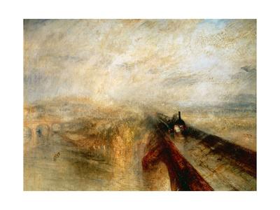 "Rain, Steam And Speed ""The Great Western Railway"" 1844 Giclee Print by J. M. W. Turner"