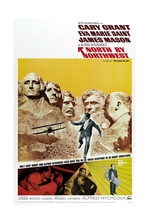"""Breathless, 1959, """"North by Northwest"""" Directed by Alfred Hitchcock Giclée-tryk"""