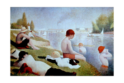 Bathers At Asnieres, 1884, French School Giclee Print by Georges Seurat