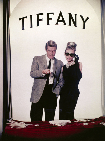"""Audrey Hepburn, George Peppard. """"Breakfast At Tiffany's"""" 1961, Directed by Blake Edwards Photographic Print"""