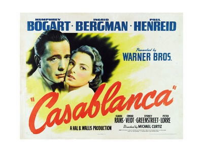 """Everybody Comes To Rick's, 1942, """"Casablanca"""" Directed by Michael Curtiz Gicléetryck"""